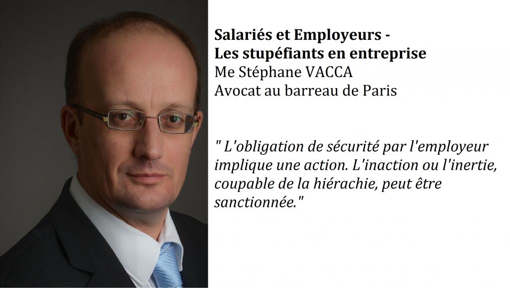 Salariés et employeurs – Les stupéfiants en entreprise